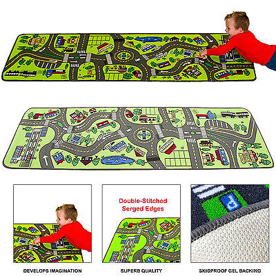 Kids Play Rug Carpet City Floor Roads Travel Street Toy Car Trucks Learning Maps