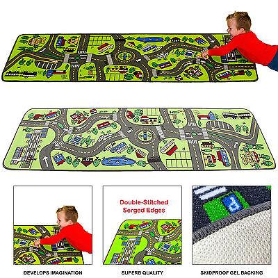 Kids Play Rug Carpet City Floor Roads Travel Street Toy Car Trucks Learning Map