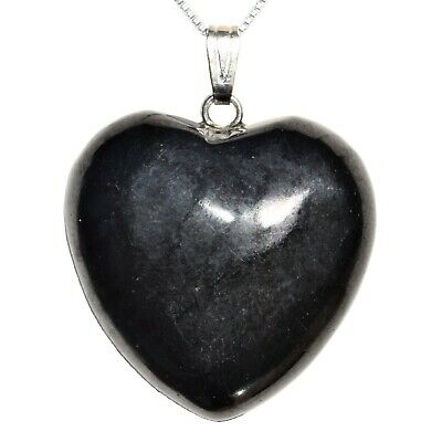 CHARGED Russian Shungite Crystal Heart Pendant + 20