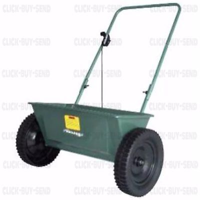 WALK BEHIND DROP SPREADER LAWN GRASS FERTILIZER WEED FEED 60 LB 22