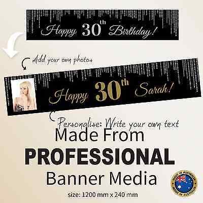 30 Birthday Party Ideas (Personalised 30th Happy Birthday Party Gift Idea Decorations LARGE Black)