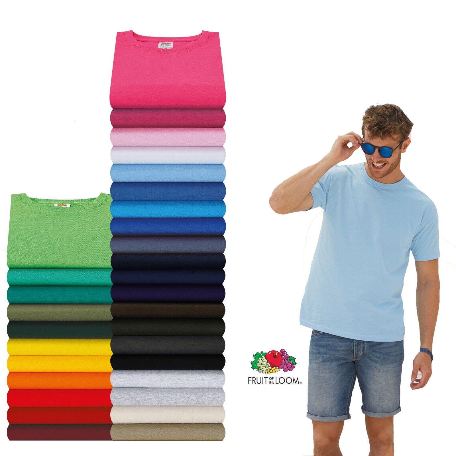 Fruit of the Loom T-shirt Valueweight  S M L XL XXL XXXL 3XL 4XL 5XL Sets SHIRTS