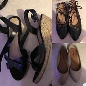 3 pairs of shoes, all size 10