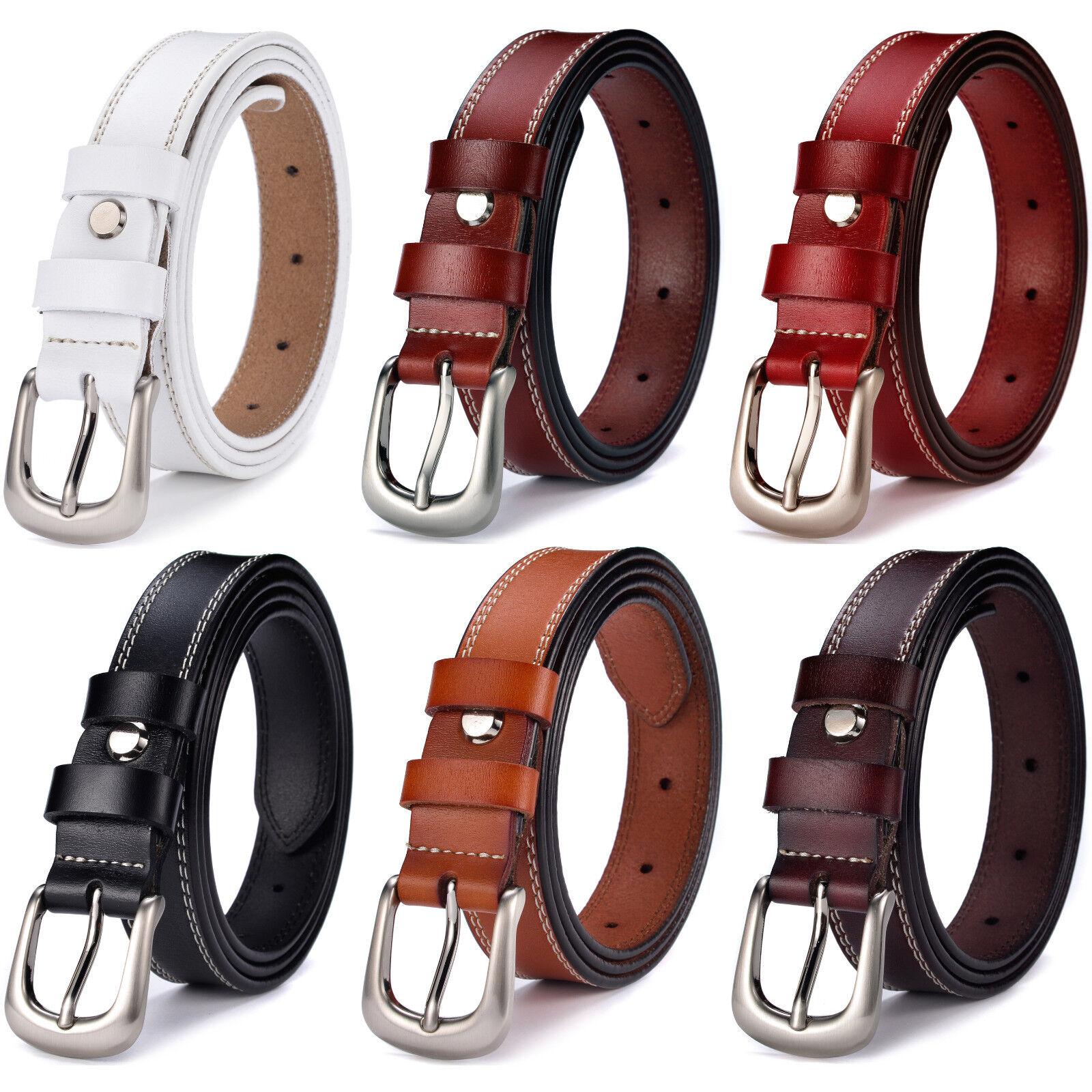 Women's Jean Belt Classic Buckle Handcrafted Genuine Leather Belt Belts