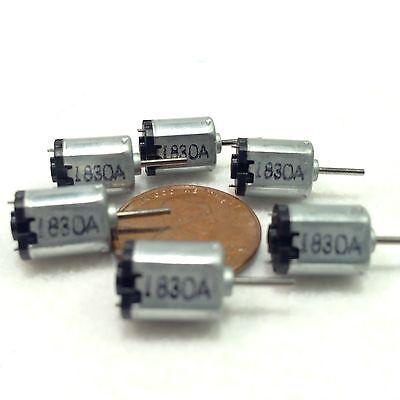 6 Pieces K10 Dc Small Mini Micro Motor 1w 0.5g.cm 1.5-3.5vdc 35ma 16000rpm A1