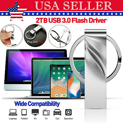 2TB USB 3.0 Flash Drives Metal Flash Drive Memory Stick U Disk Data Storage US