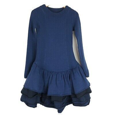 No Added Sugar Girls Long Sleeve Tiered Ruffle Dress