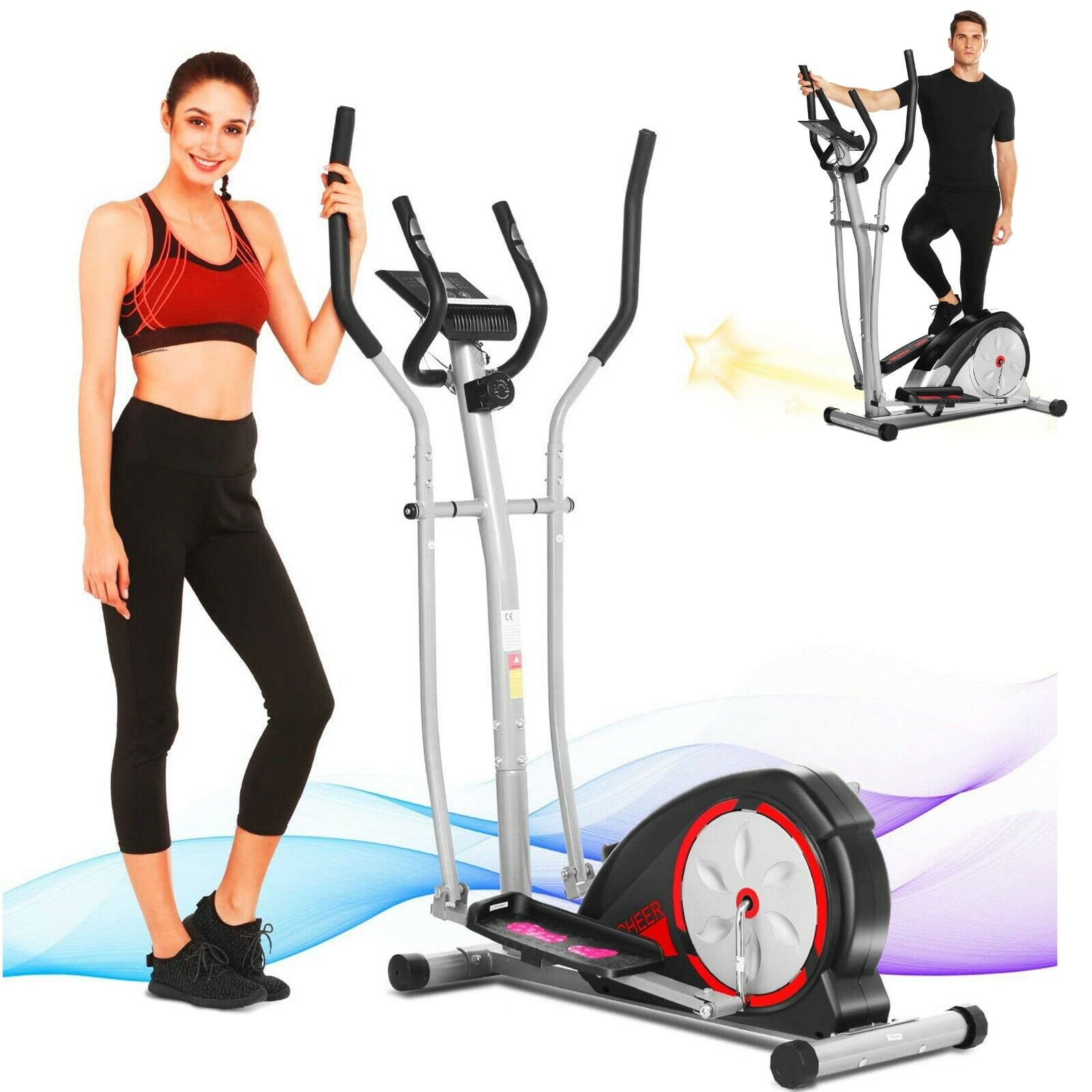 Newest Magnetic Elliptical Machine Exercise Fitness Cardio M