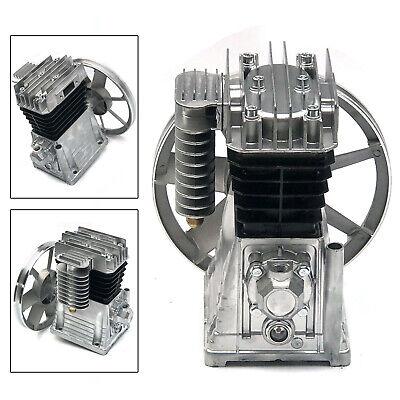Piston Style Oil Lubricated Air Compressor Pump Motor Head Cast Iron 3hp 2.2kw