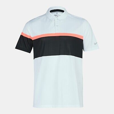 NIKE GOLF Dri-FIT MM Fly Framing Block Polo Shirt 833103-100 Size Large