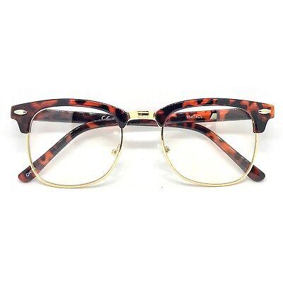 60s Retro Malcolm X Horn Rim Hipster Vintage Glasses Tortoise - (Malcolm X Glasses)