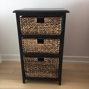 Storage with wicker drawers