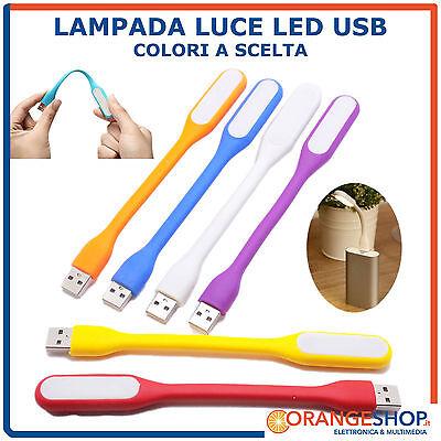 LAMPADA LUCE LED USB SNODABILE COLORATA LIGHT USB PER NOTEBOOK CAMPEGGIO