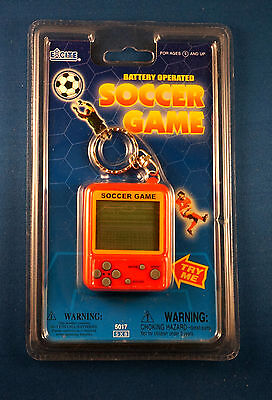 NEW EXCITE SOCCER LCD TRAVEL KEYCHAIN GAME ELECTRONIC HANDHELD KEY CHAIN RING -