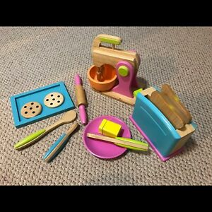 KidKraft wooden toaster and mixer sets