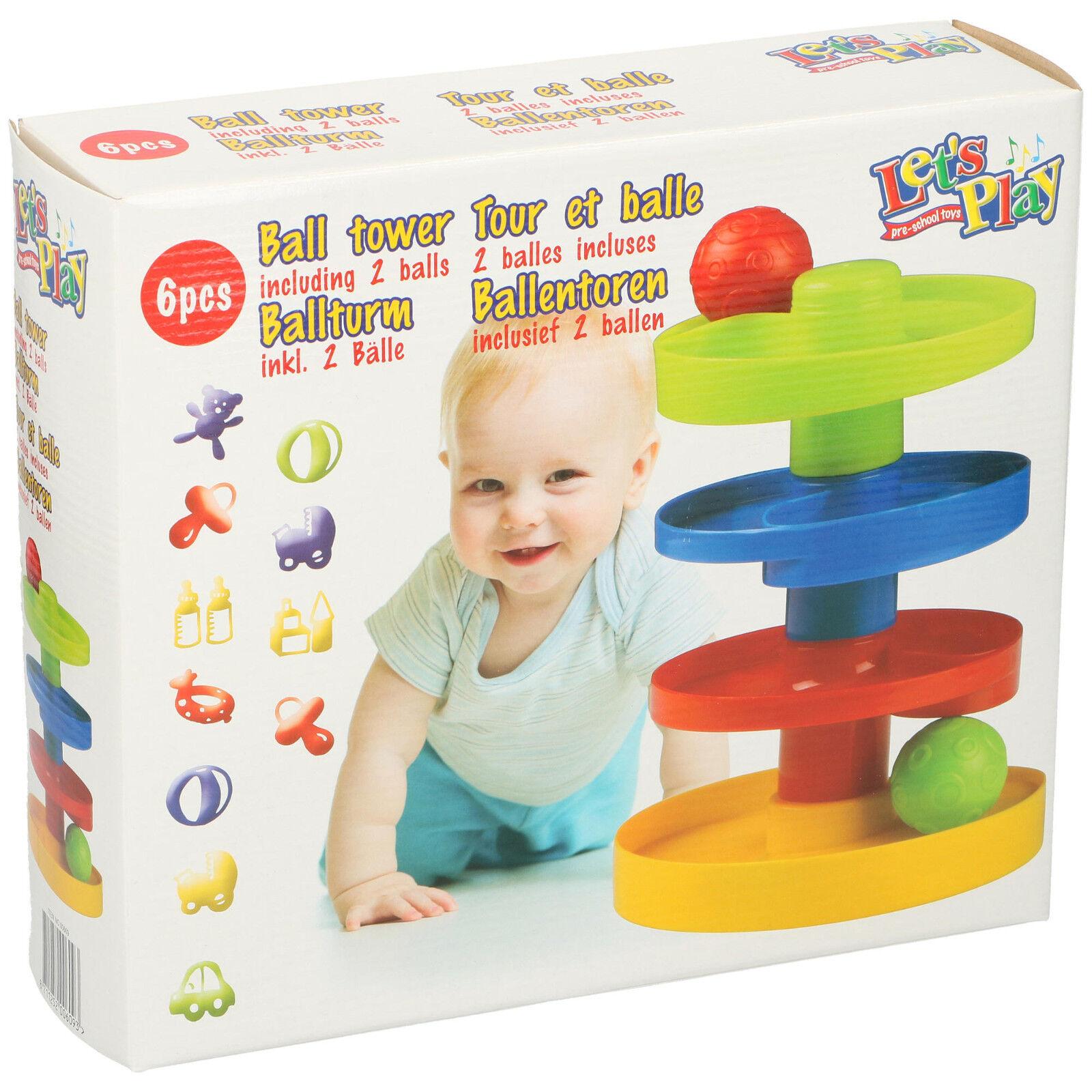 Ball Turm Kugelbahn Murmelbahn Baby Kleinkind Motorik Spielzeug Steckspiel