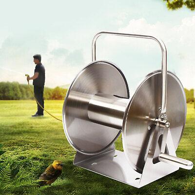 High Pressure Washer Hose Reel Stainless Water Pipe Storage Rack Reel GardenTool