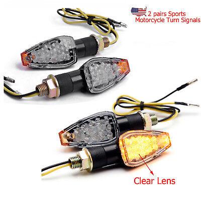 4X TURN SIGNAL LED LIGHT CLEAN LENS FOR HONDA DUAL SPORT DIRT BIKE BLINKER BULB
