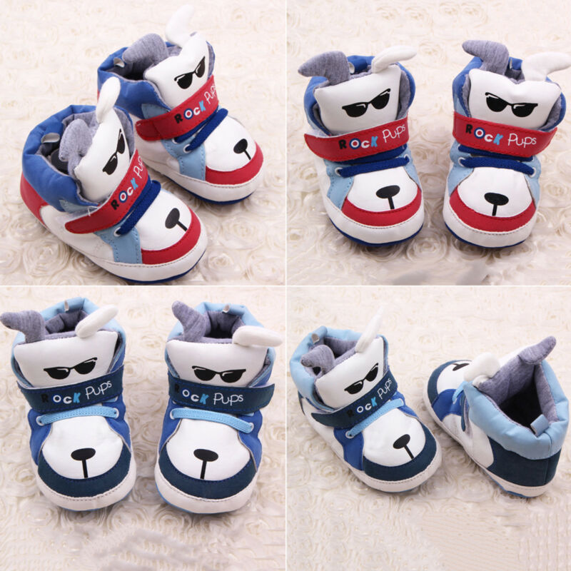 Boys Girls Cute Casual Crib Shoes Toddler Baby Letter Printe
