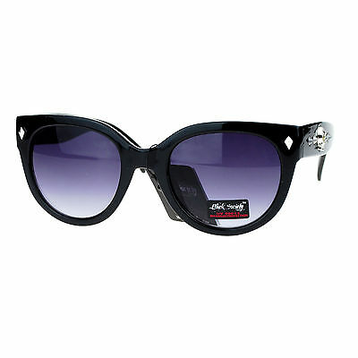 Skull Studded Womens Sunglasses Round Butterfly Fashion Eyew