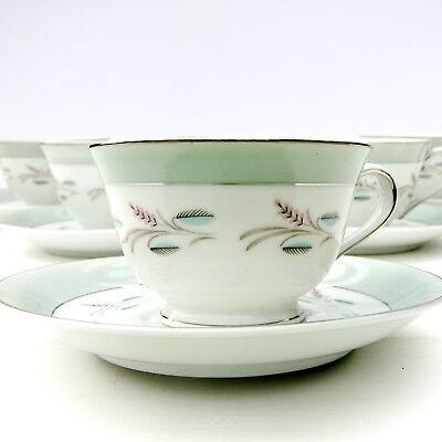 Vintage Japanese Sone China 81899R China Tea Set 6 Cups Saucers