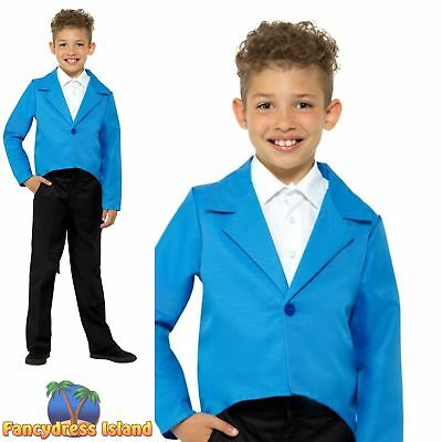 Blue Tailcoat Ringmaster Circus Cabaret Childs Kids Fancy Dress Costume (Ringmaster Costume Child)