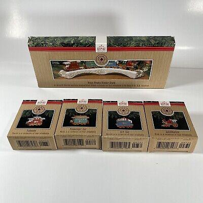 1991 Hallmark Keepsake Ornaments CLAUS & CO RR Train & Cars Complete 5 Piece Set