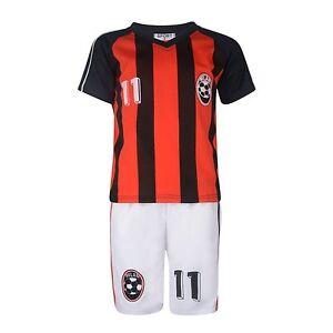 BOYS-FOOTBALL-KIT-SHORT-SET-MILAN-RED-BLACK-2-10years-BNWT-MILAN