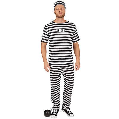 Herrenkostüm Sträfling Gefangener Häftling Gefängnis Knast Verbrecher - Häftling Kostüm