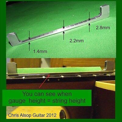 Acoustic Steel String Guitar Action Gauge 1.3 to3.0mm Transmiited Light UseTA003