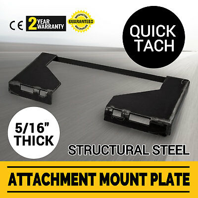 516 Quick Tach Attachment Mount Plate Concrete Breakers Skid Steer Adapter