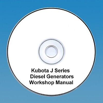 Kubota J Series Diesel Generators Workshop Manual - Many Many Models!!