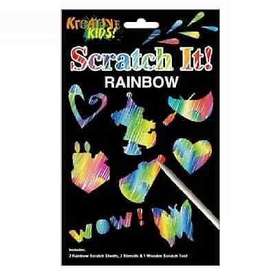 Scratch It Art Rainbow Set Kit Stencils Tool Engraving Craft Magic Drawing Paper