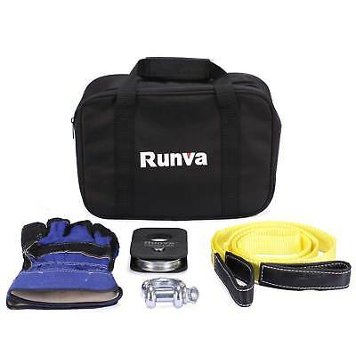 Runva ATV UTV Off-Road Recovery Tow Winch Kit of Essentials and Accessories