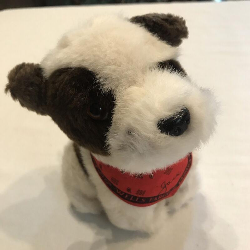 """Wells Fargo Dog Jack with red bandana 7"""" plush toy"""