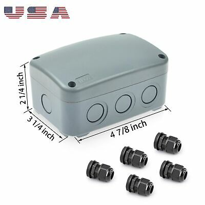 Electronic Project Box Junction Enclosure Case Box Waterproof Ip66 Cable Glands