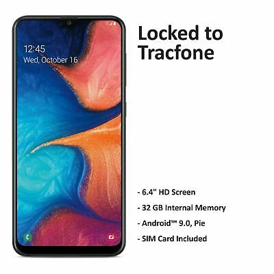 Android Phone - Tracfone Samsung Galaxy A20 4G LTE Prepaid Cell Phone