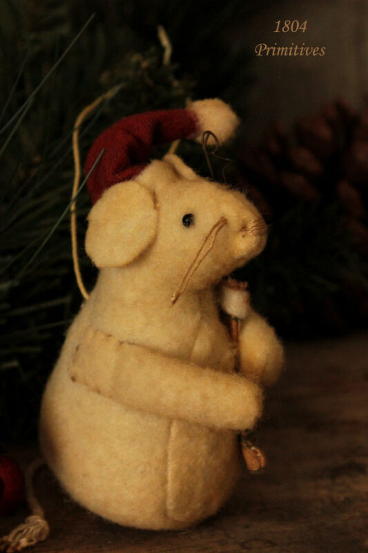 Merry Christmouse holding Stocking ~ Christmas Mouse