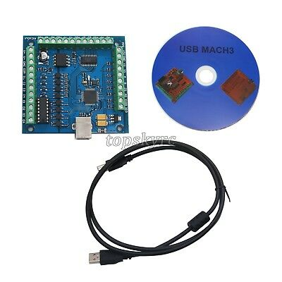 Mach3 4-axis Usb Cnc Engraving Controller Card Smooth Stepper Motion Control