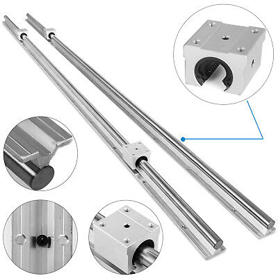 Sbr20-2200mm 2x Linear Rail Set 4x Bearing Block 20mm Grinding Shaft Rod Newest