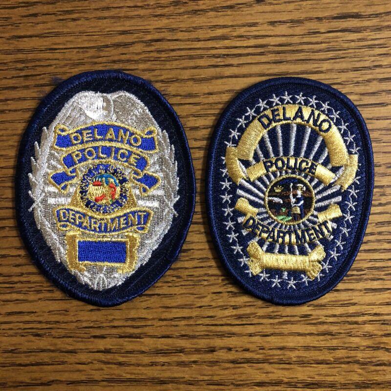 Delano CA Police Patch Set