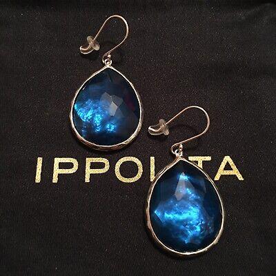 IPPOLITA 925 Wonderland Large Teardrop Earrings Blue Lagoon Mother of Pearl $550