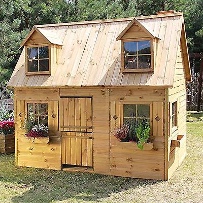 Kinderhaus, Kinderspielhaus Gartenhaus Holz Spielhaus Holzhaus für Kinder Groß