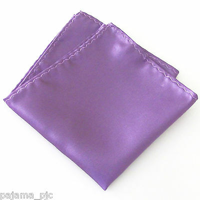 "New Men's SOLID Pocket Square Hankie Only Lavender Lilac 10"" x 10"" Wedding 100XX"