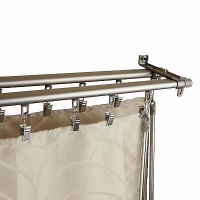 InStyleDesign Regal Silver Adjustable Double Curtain Track Silver