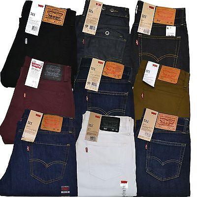 Levis 511 Mens Jeans Slim Fit Skinny Blue Light Medium Dark All Sizes Nwt New