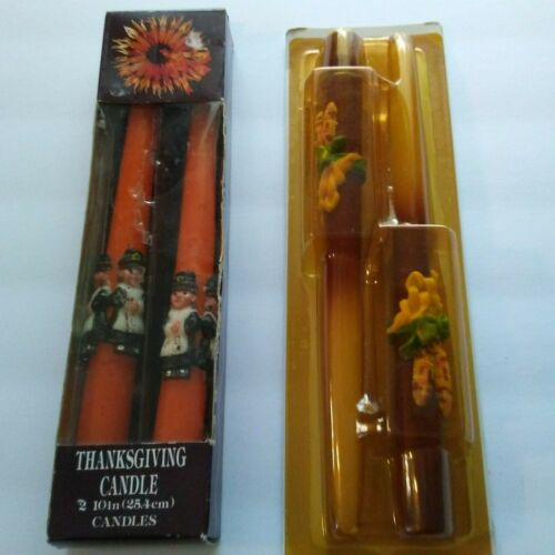 *NIB* 2 SETS OF VINTAGE THANKSGIVING TAPER CANDLES