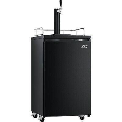 Black Full-size Beer Tap Kegerator Fridge 4.9cu.ft. Cool Draft Keg Refrigerator