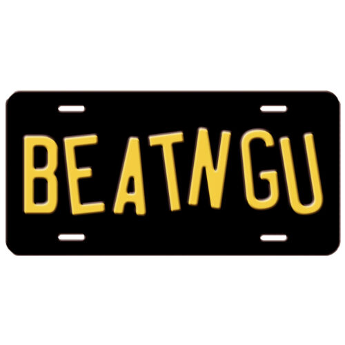 Jeepers Creepers Creeper Truck BEATNGU Replica Prop Aluminum License Plate Tag