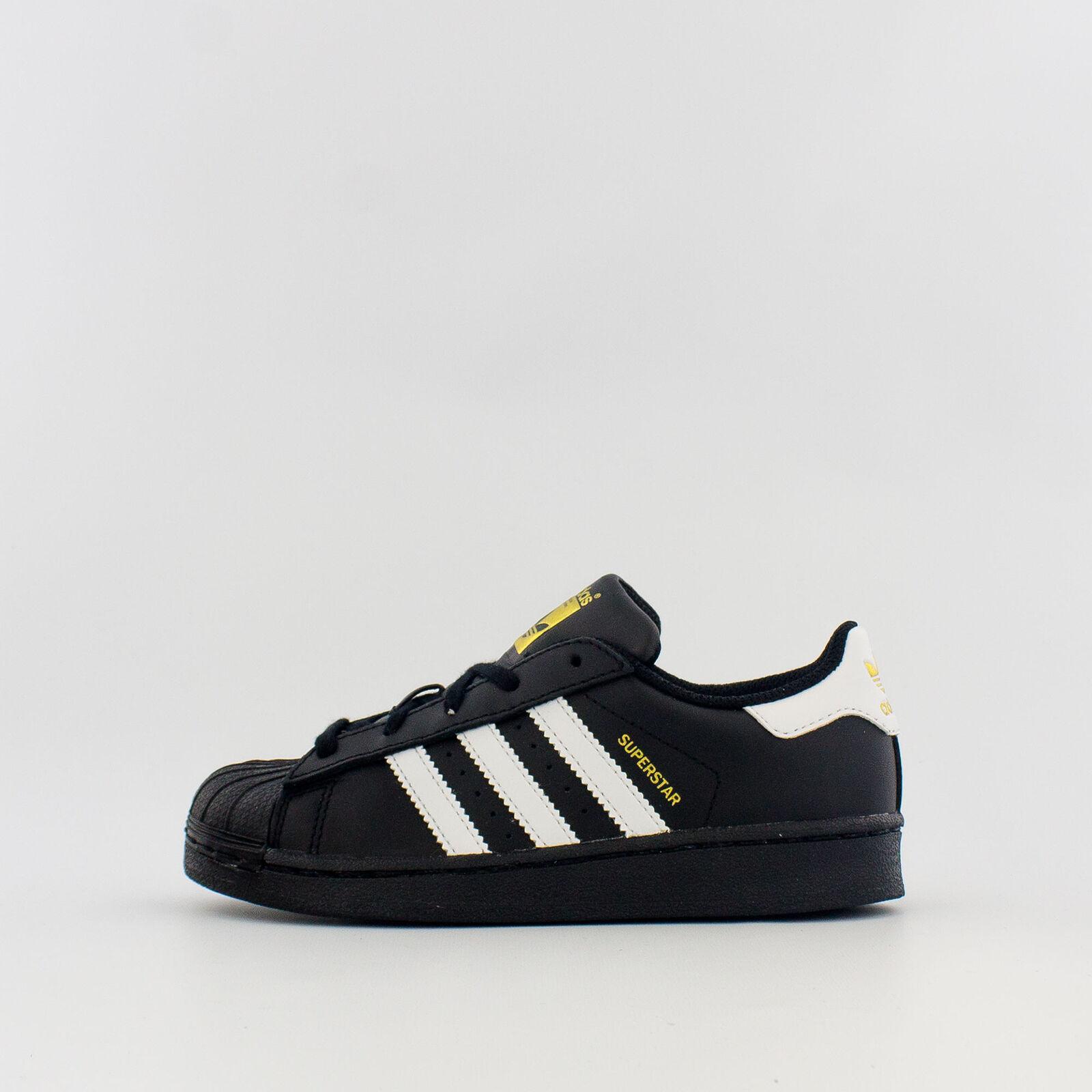 Adidas Superstar Foundation Sneaker Little Kids BA8379-Black/White